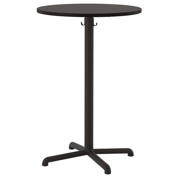 STENSELE طاولة مرتفعة, فحمي/فحمي, 70 سم