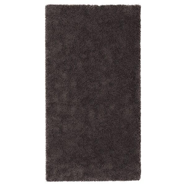 STOENSE سجاد، وبر قصير, رمادي غامق, 80x150 سم