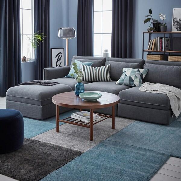 STOENSE سجاد، وبر قصير, أزرق معتدل, 80x150 سم