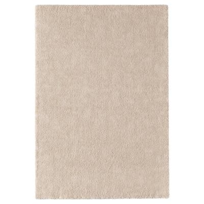 STOENSE Rug, low pile, off-white, 133x195 cm