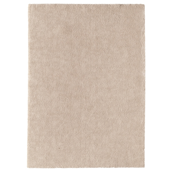 STOENSE سجاد، وبر قصير, أبيض-عاجي, 170x240 سم