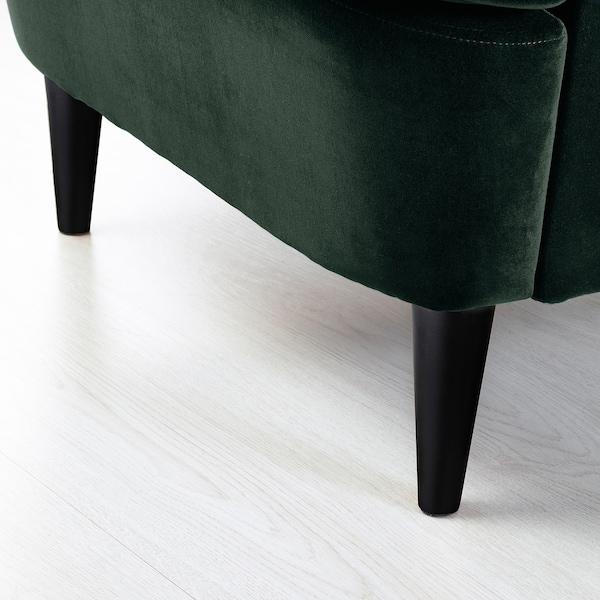 STRANDMON Wing chair, Djuparp dark green