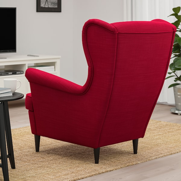 STRANDMON Wing chair, Nordvalla red