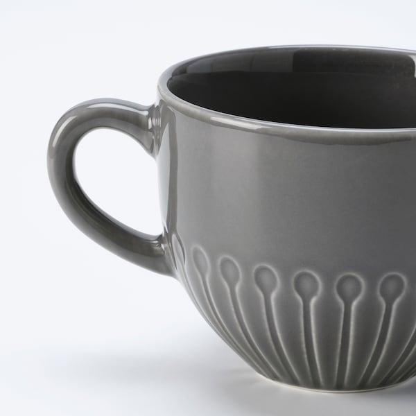 STRIMMIG Mug, stoneware grey, 36 cl