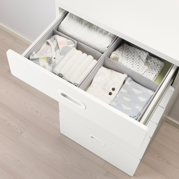 STUVA / FRITIDS chest of 6 drawers white/white 60 cm 50 cm 128 cm