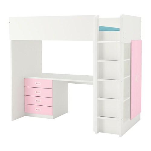 stuva / fritids loft bed combo w 4 drawers/2 doors - white/white - ikea