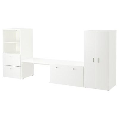 STUVA / FRITIDS Storage combination, white/white, 300x50x128 cm