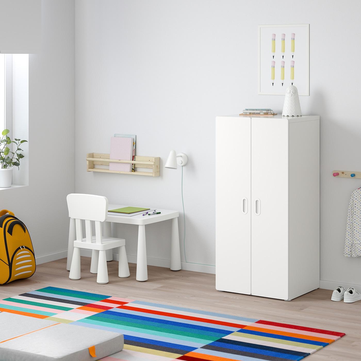 STUVA / FRITIDS Wardrobe, white/white, 60x50x128 cm