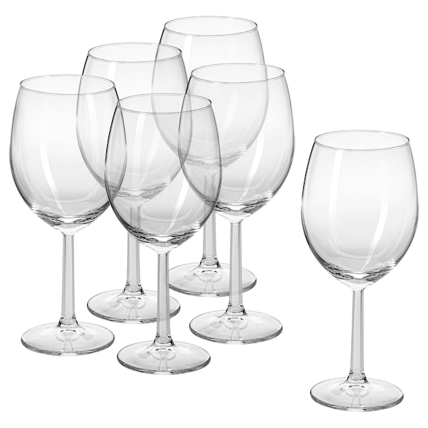 SVALKA Glass, clear glass, 44 cl