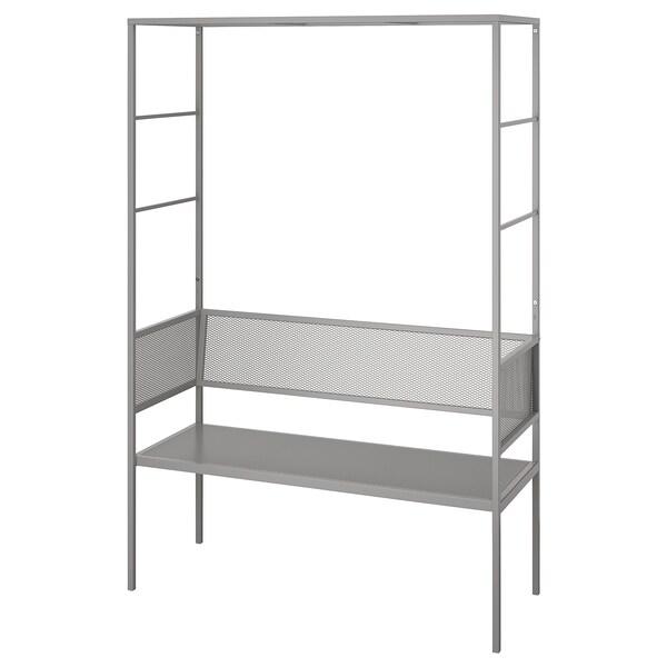 SVANÖ Arbor bench, grey, 119x48 cm