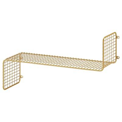 SVENSHULT Wall shelf, gold-colour, 60x20 cm