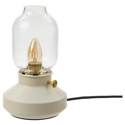 TÄRNABY Table lamp, beige, 25 cm