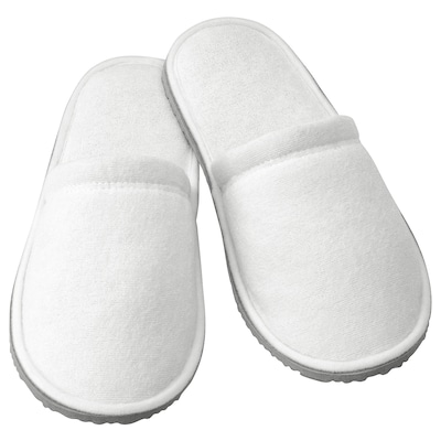 TÅSJÖN Slippers, white, S/M
