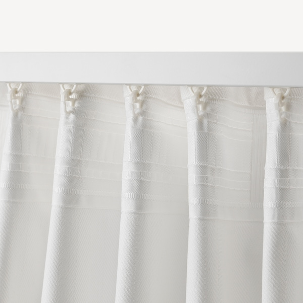 TIBAST Curtains, 1 pair, white, 145x300 cm