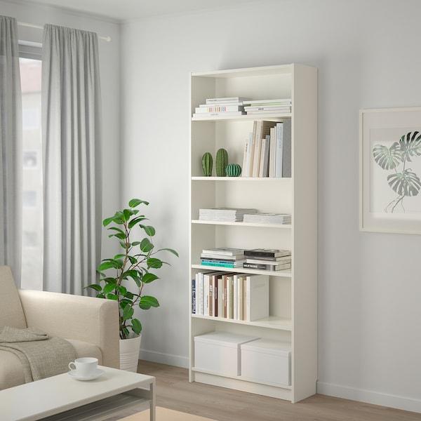 TJENA Storage box with lid, white, 25x35x20 cm