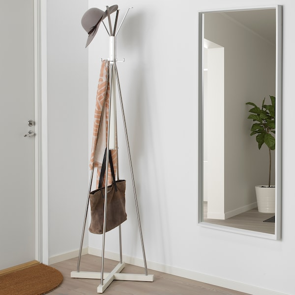 TJUSIG Hat and coat stand, white, 193 cm