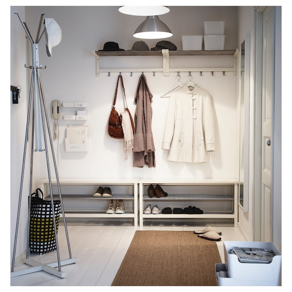 TJUSIG Hat rack, white, 79 cm