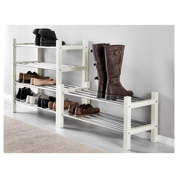 TJUSIG Shoe rack, white, 79x32x37 cm