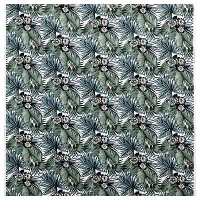 TORGERD Fabric, white/green, 150 cm