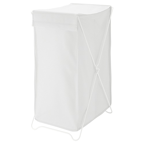 TORKIS laundry basket white/grey 354 mm 470 mm 672 mm 90 l