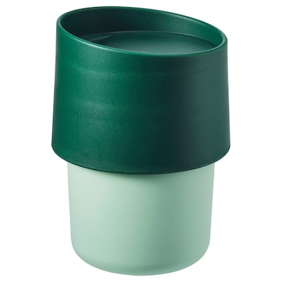 TROLIGTVIS Travel mug, green, 0.3 l