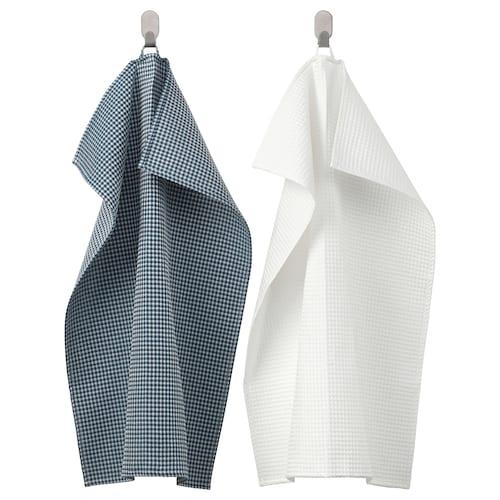 TROLLPIL tea towel white/blue 70 cm 50 cm 2 pieces