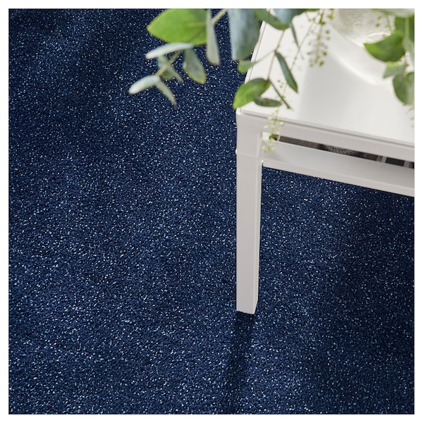 TYVELSE rug, low pile dark blue 150 cm 80 cm 14 mm 1.20 m² 3000 g/m² 1880 g/m² 13 mm