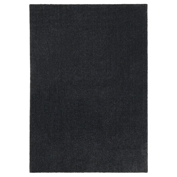 TYVELSE سجاد، وبر قصير, رمادي غامق, 170x240 سم
