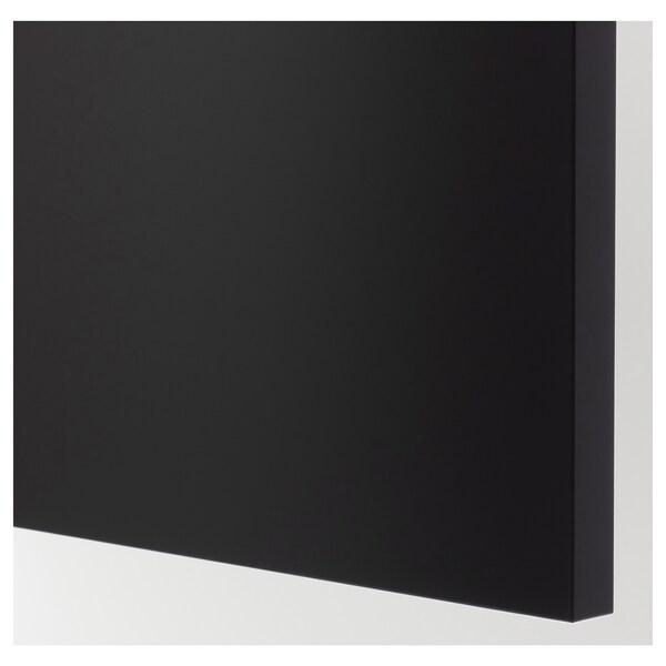UDDEVALLA Door with blackboard surface, anthracite, 40x80 cm