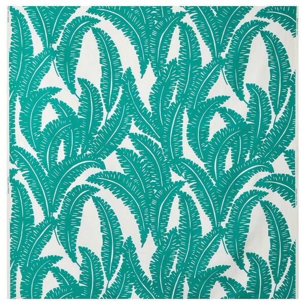 UGGLEMOTT fabric white/turquoise 230 g/m² 150 cm