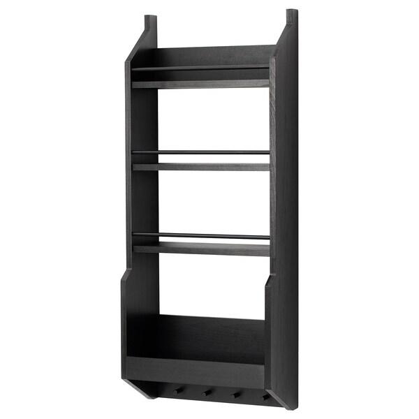 VADHOLMA wall shelf black 40 cm 20 cm 100 cm