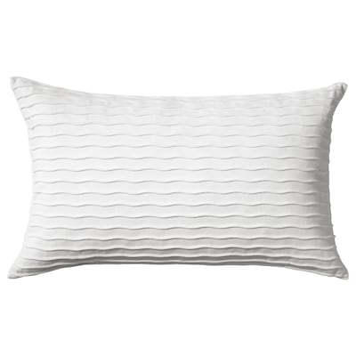 VÄNDEROT Cushion, white, 40x65 cm