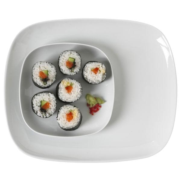 VÄRDERA Plate, white, 31x26 cm