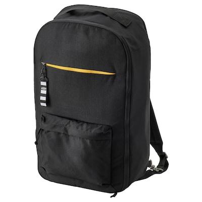 VÄRLDENS Travel back pack, black, 33x17x55 cm/36 l