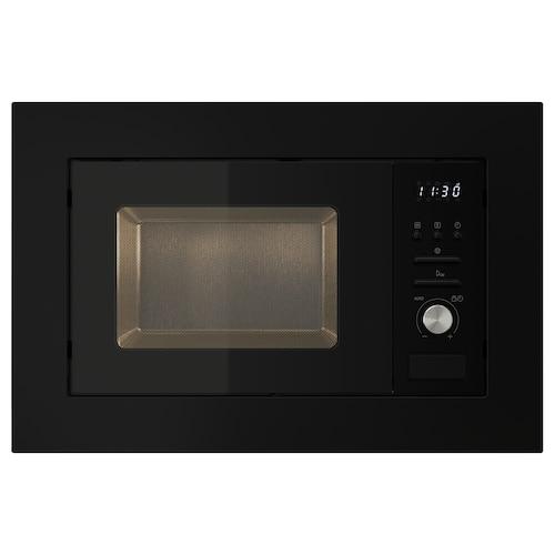 VÄRMD microwave oven black 59.5 cm 34.4 cm 39.4 cm 100 cm 20 l 15 kg