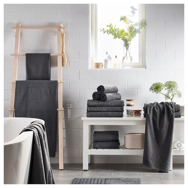 VÅGSJÖN Bath towel, dark grey, 70x140 cm