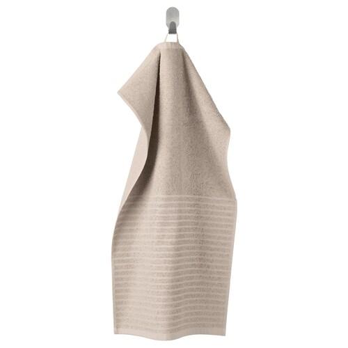VÅGSJÖN hand towel beige 70 cm 40 cm 0.28 m² 400 g/m²