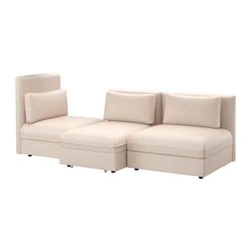 Vallentuna 3 seat sofa with bed murum beige ikea for Sofa bed kuwait