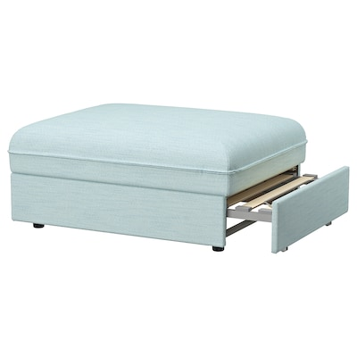 VALLENTUNA Sofa-bed module, Hillared light blue