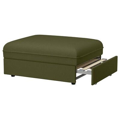 VALLENTUNA وحدة كنبة سرير, Orrsta أخضر زيتوني