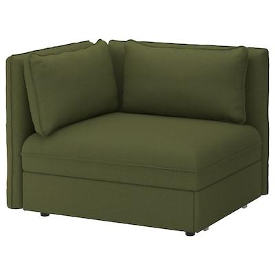 VALLENTUNA وحدة كنبة سرير مع مساند ظهر, Orrsta أخضر زيتوني