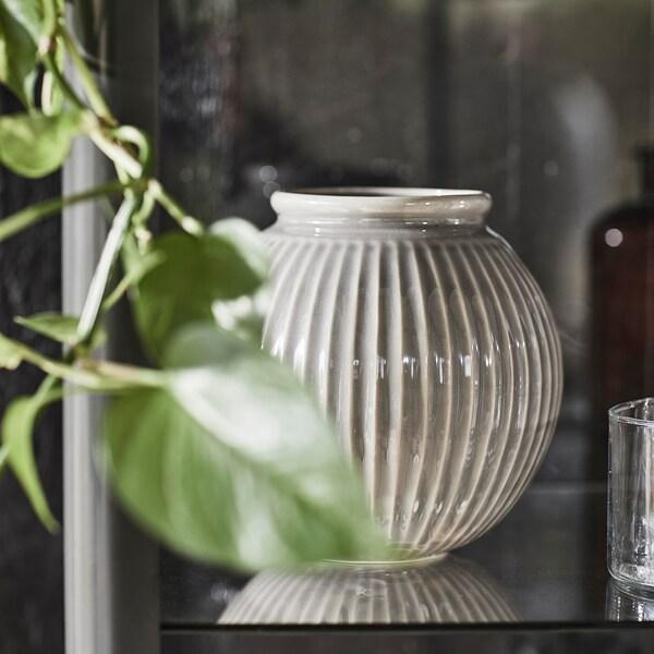 VANLIGEN vase grey 18 cm 18.5 cm