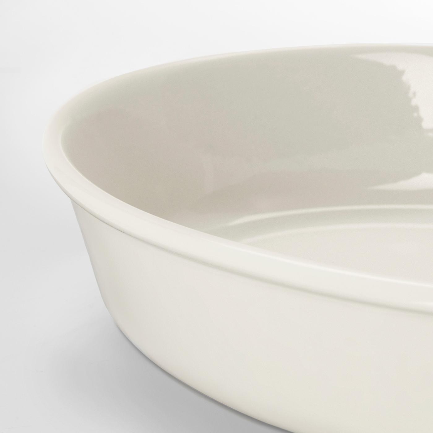 VARDAGEN Oven dish, oval/off-white, 31x24 cm