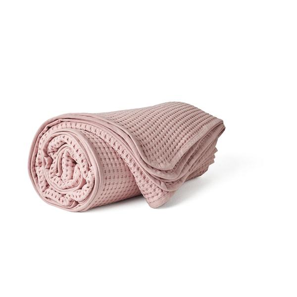 VÅRELD Bedspread, light pink, 230x250 cm