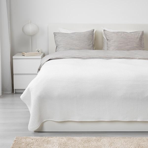VÅRELD Bedspread, white, 230x250 cm
