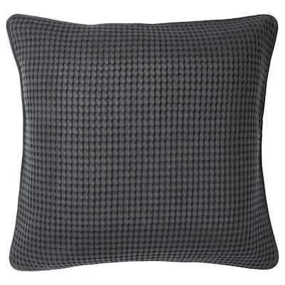 VÅRELD Cushion cover, dark grey, 50x50 cm