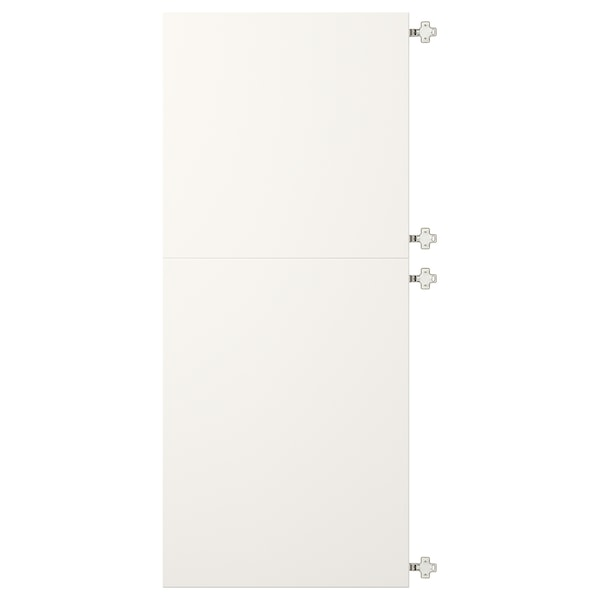VEDDINGE Connected doors with hinges, white, 60x140 cm