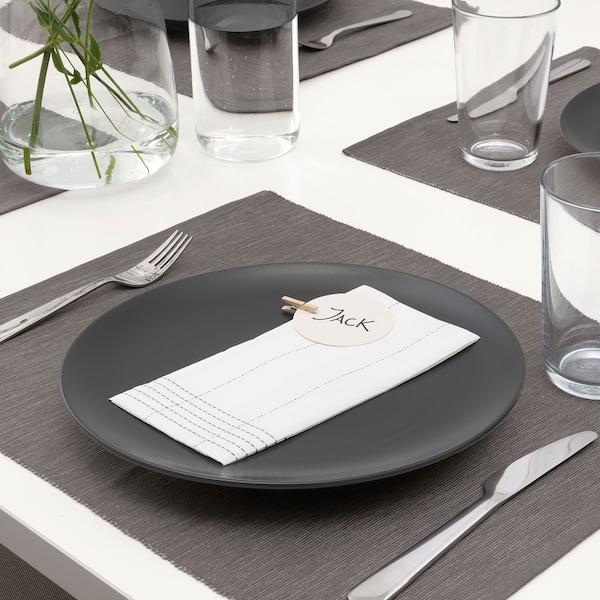 VERKLIGHET Paper napkin, white/blue, 38x38 cm