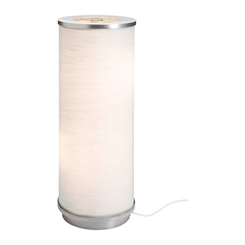 VIDJA Table lamp   The textile shade provides a diffused and decorative light.