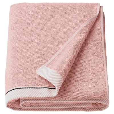 VIKFJÄRD Bath sheet, light pink, 100x150 cm
